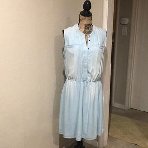 White Washed Denim Dress NWOT